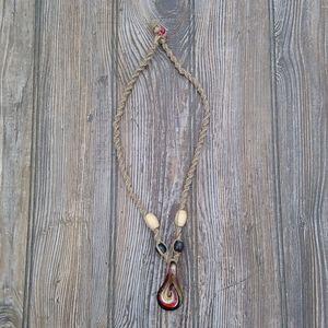 Handmade Knotted Braided Hemp Pendant Necklace
